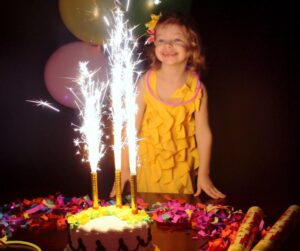 """4"""" cake sparkler silver wrapping giant birthday candle indoor safe"""