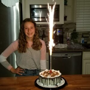 Giant birthday candle sparkler for cake