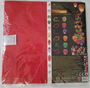 paper Chinese sky lantern red