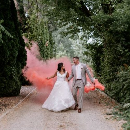 Smoke bomb for wedding