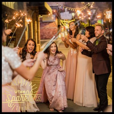 long-wedding-exit-sparklers